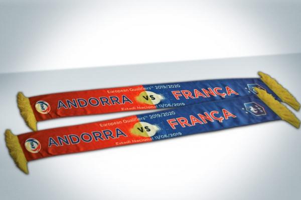 Bufandas FAF -Andorra vs Francia
