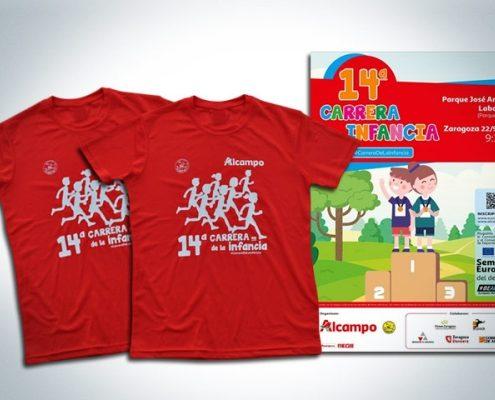 Camiseta 14 carrera de la infancia